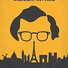 No312 My Midnight over Paris minimal movie poster by Chungkong
