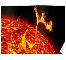 Solar flares Poster