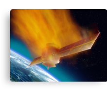 Satellite Reentry Canvas Print