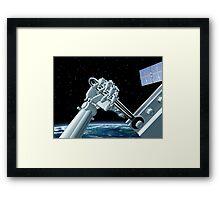Space station maintenance Framed Print