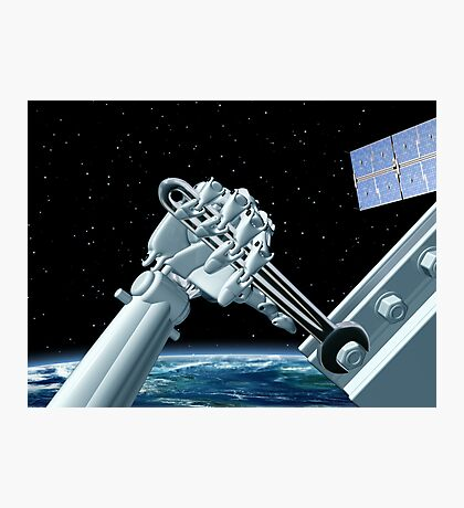 Space station maintenance Photographic Print