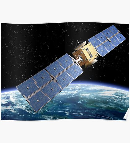 Communication Satellite Poster