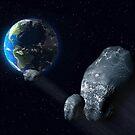 Ominous asteroid by Paul Fleet