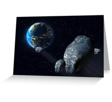 Ominous asteroid Greeting Card