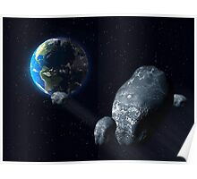 Ominous asteroid Poster