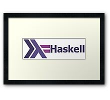haskell programming language  Framed Print