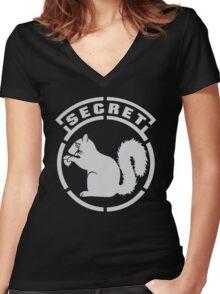 Secret Squirrel Women's Fitted V-Neck T-Shirt