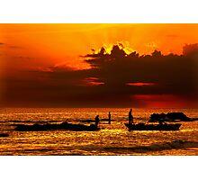 Fishing around sunset - Pantokratoras, Preveza Photographic Print
