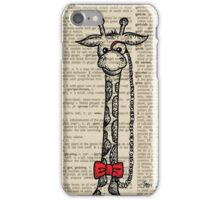 Giraffe with Monocle iPhone Case/Skin