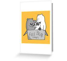 We Bare Bears  Free Bear Hug Greeting Card