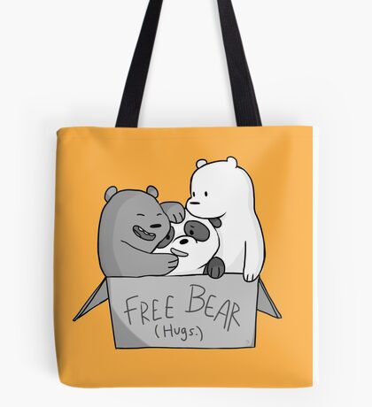 We Bare Bears  Free Bear Hug Tote Bag