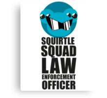 Squirtle Squad Law Enforcement Officer Canvas Print