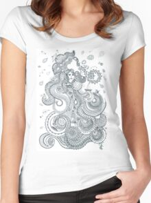 Water - Four mythical elements Women's Fitted Scoop T-Shirt