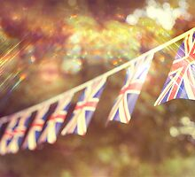 British Union Jack flag bunting  by thommoore