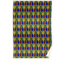 Multicolor Leaf pattern Poster