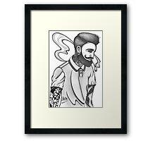 indie rock man Framed Print