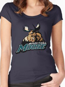 Manitoba Moose Women's Fitted Scoop T-Shirt