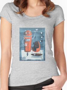 Robo-Tini Women's Fitted Scoop T-Shirt