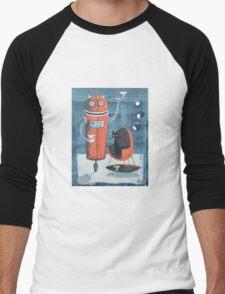 Robo-Tini Men's Baseball ¾ T-Shirt