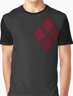 Red Diamond Patches with Inside stitching Graphic T-Shirt