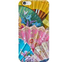 Colorful Chinese Fans iPhone Case/Skin