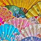 Colorful Chinese Fans by Alexandra Lavizzari