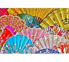 Colorful Chinese Fans Photographic Print
