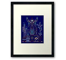 Santa Fe Garden – Navy Framed Print