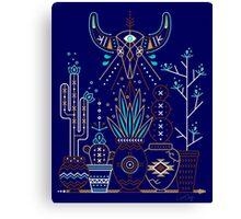 Santa Fe Garden – Navy Canvas Print