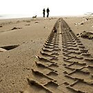 BEACH WALK  I by June Ferrol
