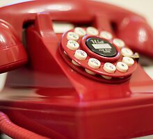 Retro red telephone by thommoore
