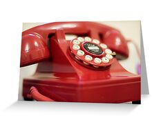 Retro red telephone Greeting Card