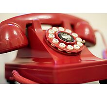 Retro red telephone Photographic Print