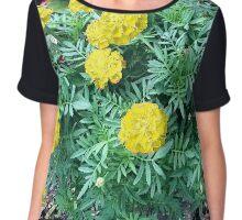 Yellow Marigolds Chiffon Top