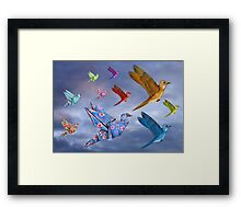 Origami Bird Dreamscape Framed Print