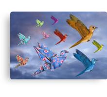 Origami Bird Dreamscape Canvas Print