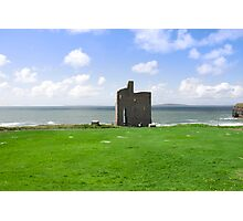 beautiful view of Ballybunion castle and green Photographic Print