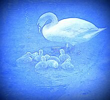 Swan and cygnets by MagsArt