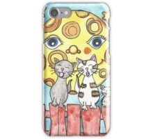 Cats on the fence iPhone Case/Skin