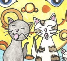 Cats on the fence Sticker