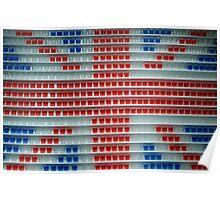 Shot glasses Union Jack flag Poster