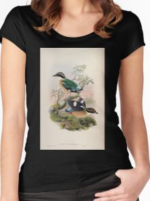 Birds of Asia John Gould 1883 V1 V7 364 Pitta Bengalensis Women's Fitted Scoop T-Shirt