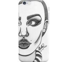 60s model illustration iPhone Case/Skin