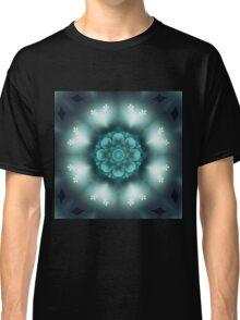 Green Floral Mandala - Abstract Fractal Artwork Classic T-Shirt
