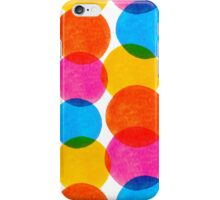 Seamless pattern with colorful watercolor circle elements iPhone Case/Skin