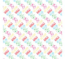 Nintendo Controller Party Pattern Photographic Print