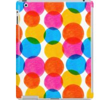 Seamless pattern with colorful watercolor circle elements iPad Case/Skin