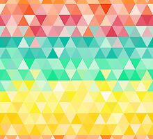 Colorful rainbow triangle seamless pattern by IreneArt