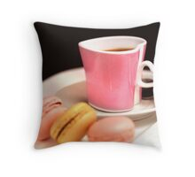 Passion For Macarons And Espresso Throw Pillow