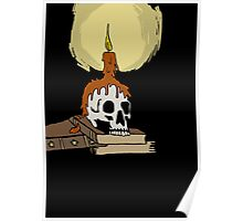 Skull and candle Poster